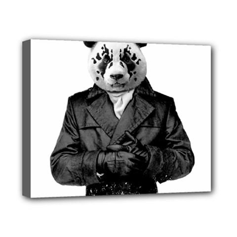 Rorschach Panda Canvas 10  X 8  by jumpercat