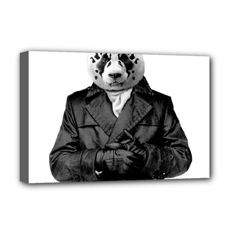 Rorschach Panda Deluxe Canvas 18  X 12   by jumpercat