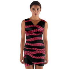 Blood Tentacles Wrap Front Bodycon Dress