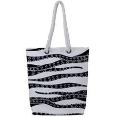 Hand Made Tentacle Full Print Rope Handle Tote (small)