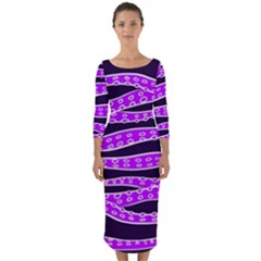 Purple Tentacles Quarter Sleeve Midi Bodycon Dress by jumpercat