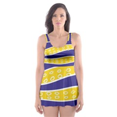 Yellow Tentacles Skater Dress Swimsuit by jumpercat