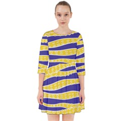 Yellow Tentacles Smock Dress