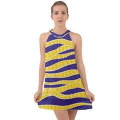 Yellow Tentacles Halter Tie Back Chiffon Dress by jumpercat