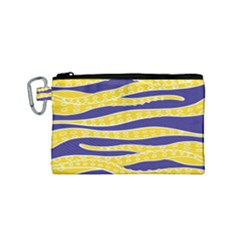 Yellow Tentacles Canvas Cosmetic Bag (small)