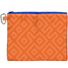 Seamless Pattern Design Tiling Canvas Cosmetic Bag (xxxl) by Nexatart