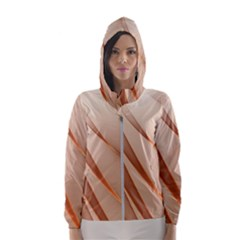 Background Light Glow Abstract Art Hooded Wind Breaker (women)