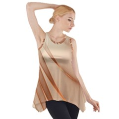 Background Light Glow Abstract Art Side Drop Tank Tunic