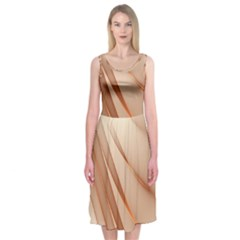 Background Light Glow Abstract Art Midi Sleeveless Dress