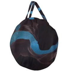 Abstract Adult Art Blur Color Giant Round Zipper Tote