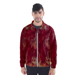 Marble Red Yellow Background Wind Breaker (men)