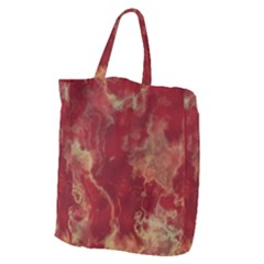 Marble Red Yellow Background Giant Grocery Zipper Tote