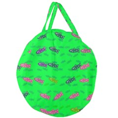 Fish Aquarium Underwater World Giant Round Zipper Tote