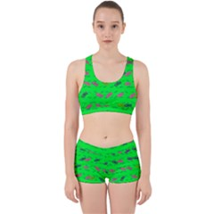 Fish Aquarium Underwater World Work It Out Sports Bra Set by Nexatart
