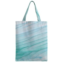Texture Seawall Ink Wall Painting Zipper Classic Tote Bag