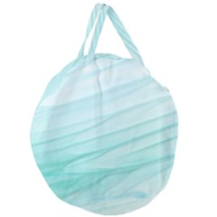 Texture Seawall Ink Wall Painting Giant Round Zipper Tote