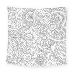 Ornament Vector Retro Square Tapestry (large)