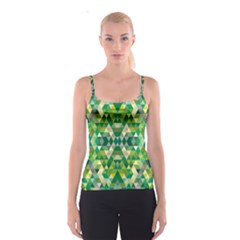 Forest Abstract Geometry Background Spaghetti Strap Top