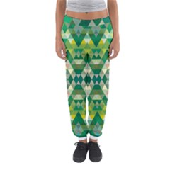 Forest Abstract Geometry Background Women s Jogger Sweatpants