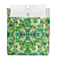Forest Abstract Geometry Background Duvet Cover Double Side (full/ Double Size) by Nexatart