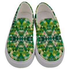 Forest Abstract Geometry Background Men s Canvas Slip Ons