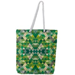 Forest Abstract Geometry Background Full Print Rope Handle Tote (large) by Nexatart