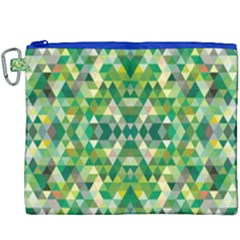 Forest Abstract Geometry Background Canvas Cosmetic Bag (xxxl) by Nexatart