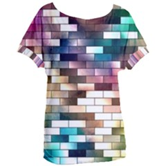 Background Wall Art Abstract Women s Oversized Tee