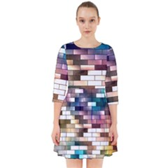 Background Wall Art Abstract Smock Dress