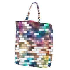 Background Wall Art Abstract Giant Grocery Zipper Tote
