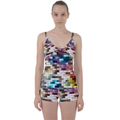 Background Wall Art Abstract Tie Front Two Piece Tankini by Nexatart