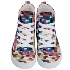 Background Wall Art Abstract Kid s Hi Top Skate Sneakers