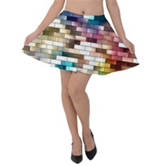 Background Wall Art Abstract Velvet Skater Skirt
