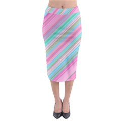 Background Texture Pattern Midi Pencil Skirt