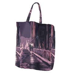 Texture Abstract Background City Giant Grocery Zipper Tote