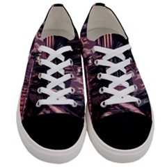 Texture Abstract Background City Women s Low Top Canvas Sneakers