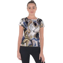 Time Abstract Dali Symbol Warp Short Sleeve Sports Top