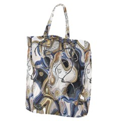 Time Abstract Dali Symbol Warp Giant Grocery Zipper Tote