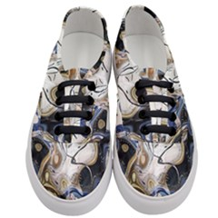 Time Abstract Dali Symbol Warp Women s Classic Low Top Sneakers