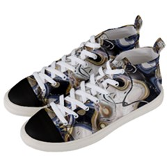 Time Abstract Dali Symbol Warp Men s Mid Top Canvas Sneakers by Nexatart