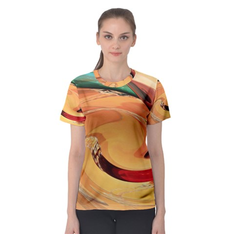 Spiral Abstract Colorful Edited Women s Sport Mesh Tee by Nexatart