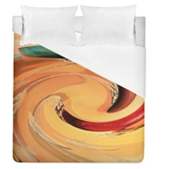 Spiral Abstract Colorful Edited Duvet Cover (queen Size)