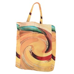 Spiral Abstract Colorful Edited Giant Grocery Zipper Tote