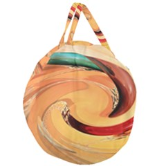 Spiral Abstract Colorful Edited Giant Round Zipper Tote