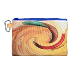 Spiral Abstract Colorful Edited Canvas Cosmetic Bag (large) by Nexatart