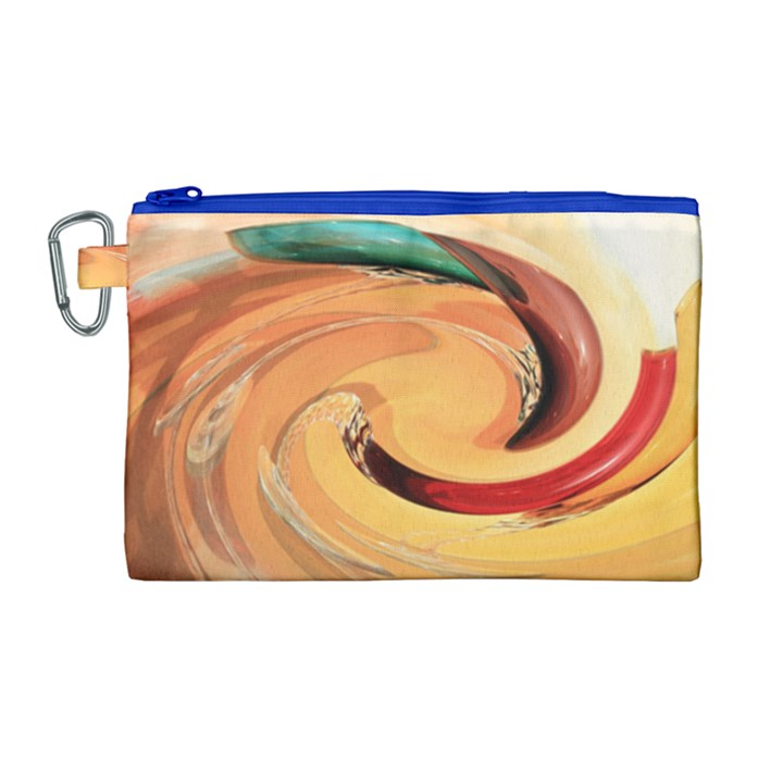 Spiral Abstract Colorful Edited Canvas Cosmetic Bag (Large)
