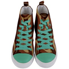 Backgrounds Background Structure Women s Mid Top Canvas Sneakers