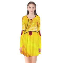 Abstract Water Oil Macro Flare Dress