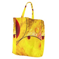 Abstract Water Oil Macro Giant Grocery Zipper Tote