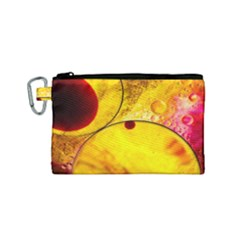 Abstract Water Oil Macro Canvas Cosmetic Bag (small)